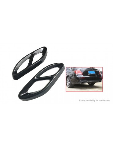 Car Exhaust Muffler Tail Pipe Cover Trim for Mercedes Benz Models (Pair)
