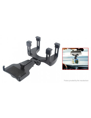Rotation Rearview Mirror Mount Cell Phone Holder