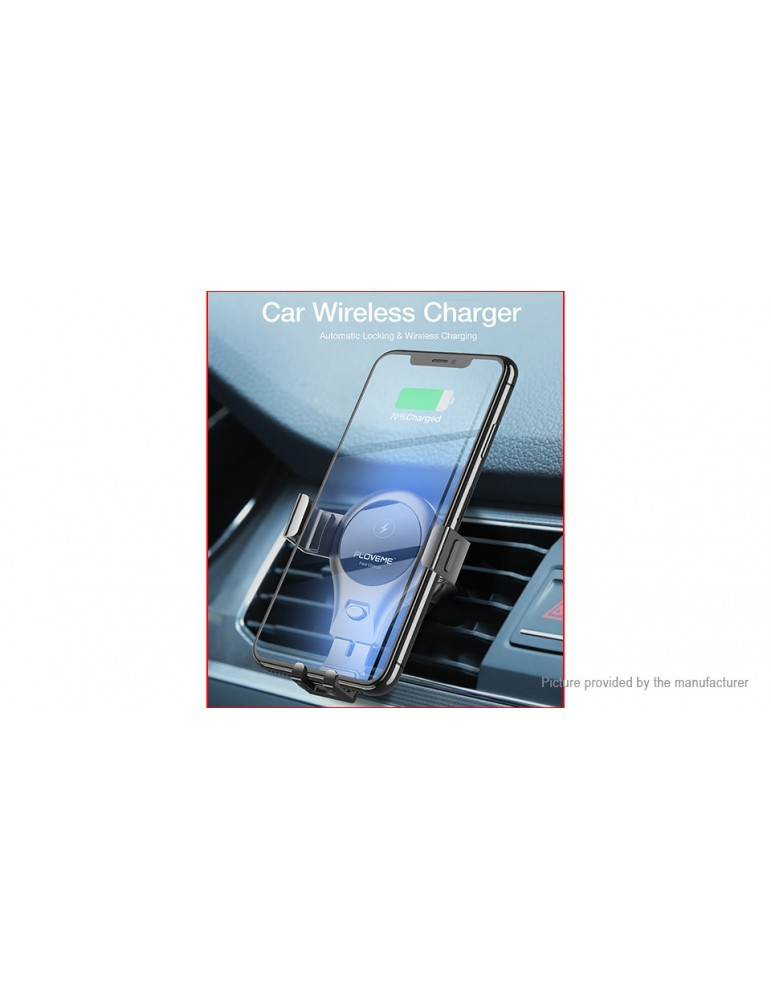 Authentic Floveme Car Air Vent Gravity Linkage Cell Phone Holder Wireless Charger