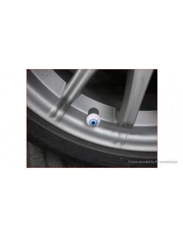 Eye Shaped Car Motorcycle Bicycle Wheel Tire Valve Stem Cap (2-Pack)