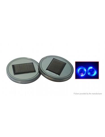 Solar Powered LED Car Cup Mug Glass Beverage Bottle Holder Mat Pad (2-Pack)