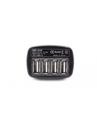 4-Port USB Car Cigarette Lighter Power Adapter Charger