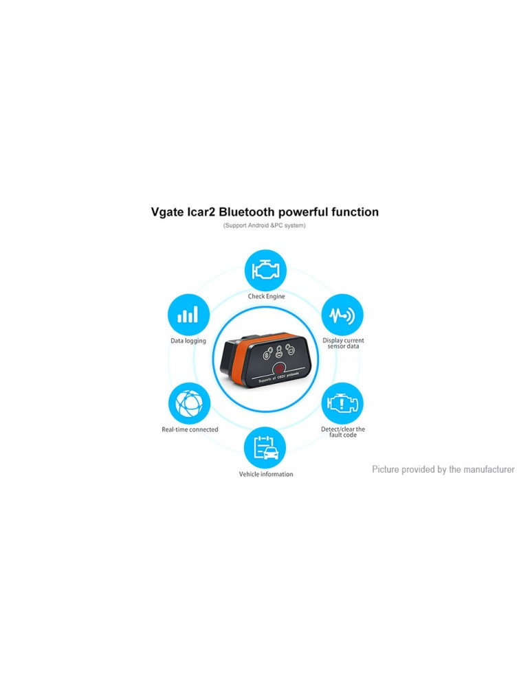 Vgate iCar2 ELM327 Bluetooth V3.0 OBD2 OBDII Car Diagnostic Scan Tool