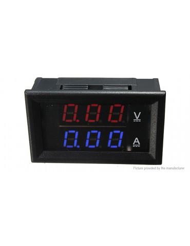 Car Motorcycle Scooter Red Blue LED Digital Voltmeter Ammeter Panel
