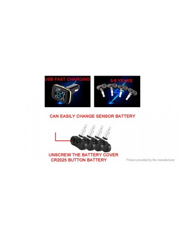 Digital Car TPMS Tire Pressure Monitoring System