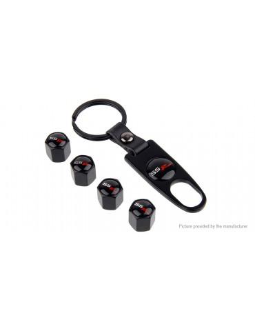 Visonter Universal Car Tire Valve Cap Keychain Set (5 Pieces)