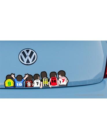 European Cup Football Sports Self-adhesive Cartoon Car Sticker (40*11.7cm)