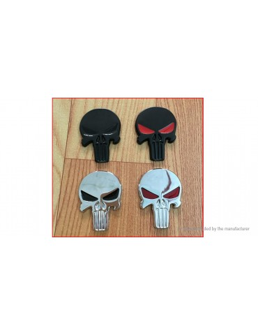 3D Skull Styled Auto Car Emblem Decal Sticker