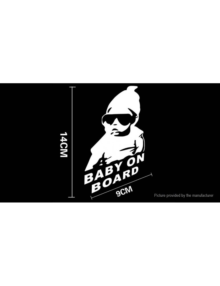 Baby On Board Character Styled Car Decal Sticker Decoration (3-Pack)