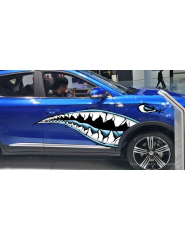 Shark Mouth Sharp Teeth Side Car Decoration Decal Sticker