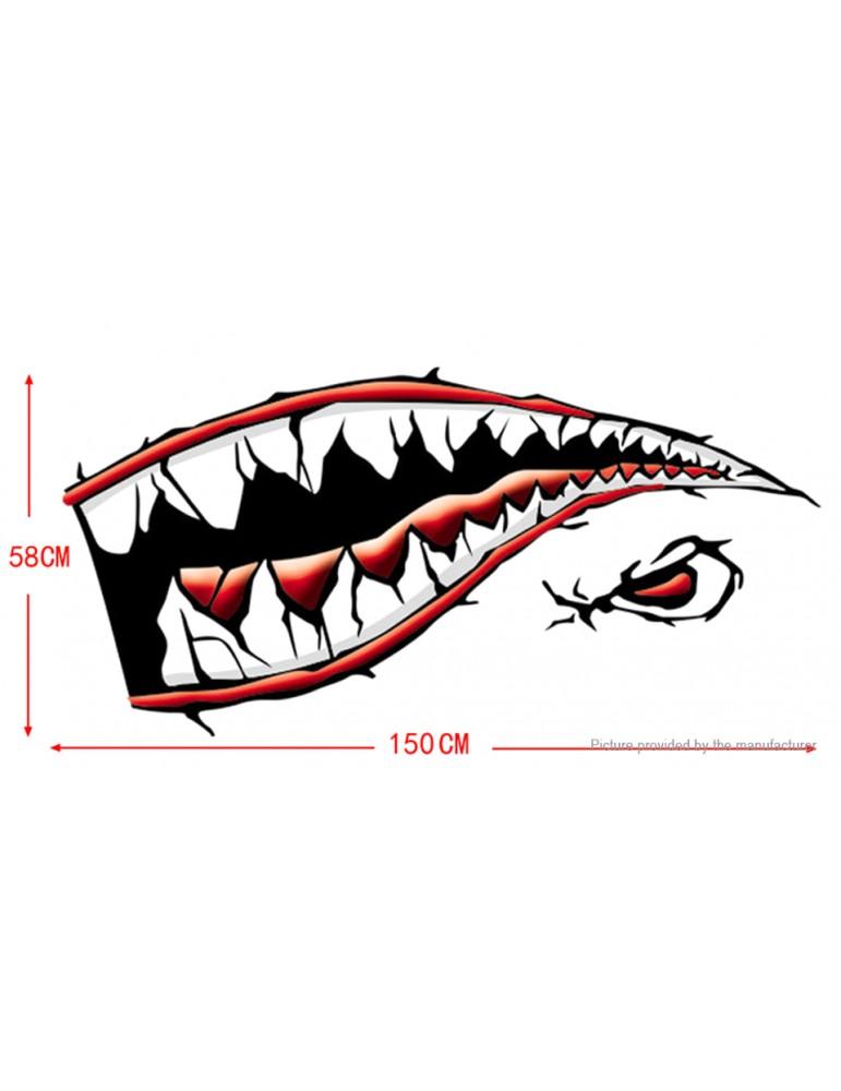 Shark Mouth Sharp Teeth Side Car Decoration Decal Sticker