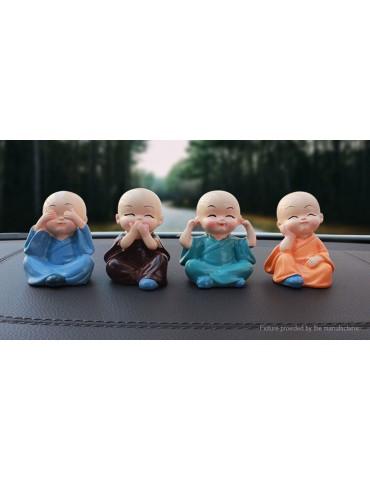 Micro Landscape Figurine Doll Small Monk Statue Car Desk Shelf Ornament Decor