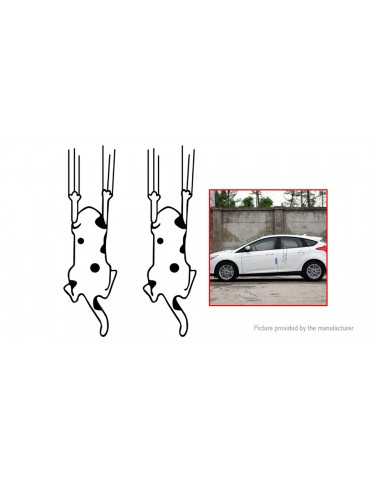 Interesting Cat Styled Reflective Car Sticker Decal Decoration (2-Pack)