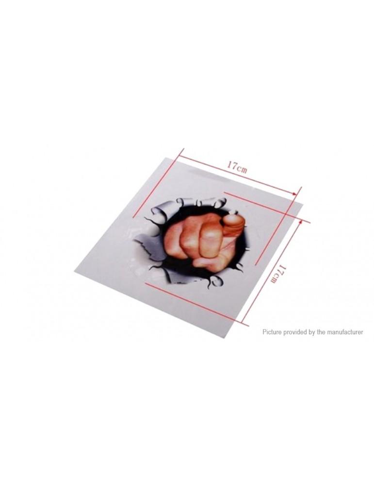 3D Finger Styled Vinyl Car Trunk Body Window Sticker Decor Decal (2-Pack)