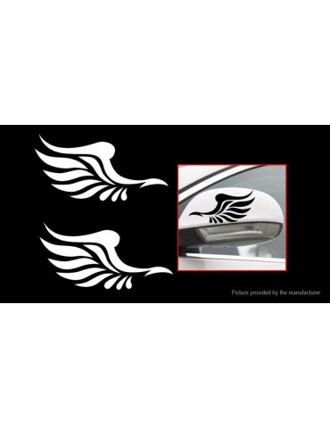 Angel Wing Styled Car Sticker Decals Vehicle Auto Truck Rear View Decoration (2-Pack)