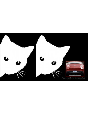 Cartoon Cat Car Decoration Decal Stickers (2-Pack)