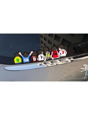 European Cup Football Sports Self-adhesive Cartoon Car Sticker (30*8.6cm)